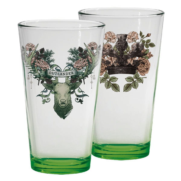 Outlander Crest Pint Glasses, Set of Two