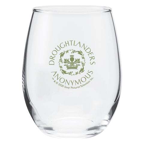 Droughtlanders Anonymous Stemless Wine Glass from Outlander