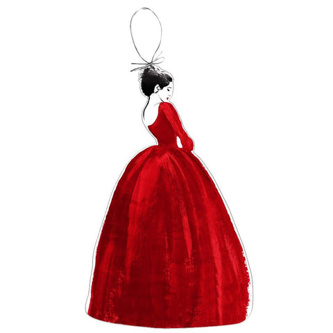 Outlander Red Dress Holiday Ornament