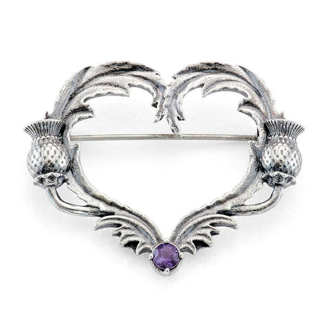 Outlander Thistle Heart Brooch by RockLove