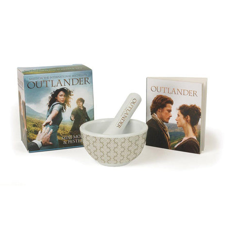 Outlander 32-Page Book of Quotes and Photos, with Mini Mortar & Pestle Set