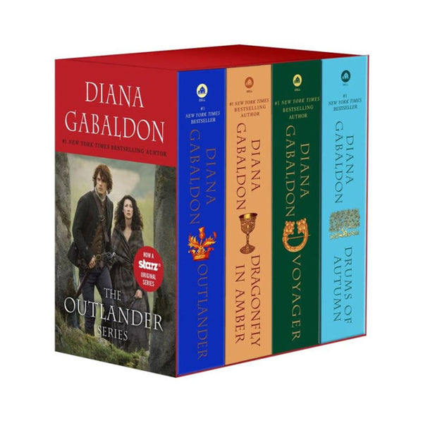 Outlander 4-Copy Boxed Set: Outlander, Dragonfly in Amber, Voyager, Drums of Autumn Paperback Book