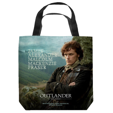 Outlander Jamie Fraser Two Sided Tote Bag