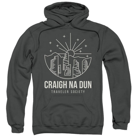 Outlander Craigh Na Dun Adult Black Charcoal Hoodie
