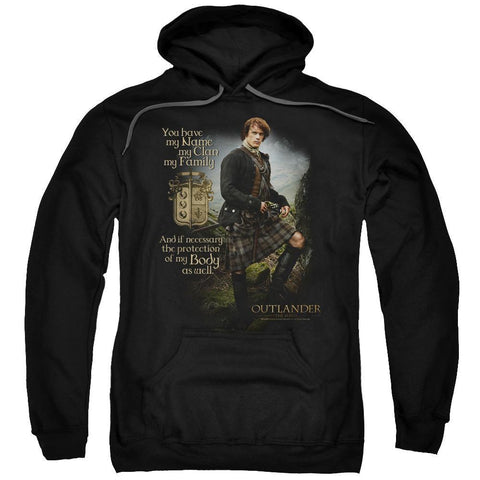 Outlander You Have My Name Adult Black Hoodie