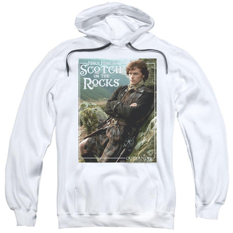 Outlander Make Mine A Scotch On The Rocks Adult White Hoodie