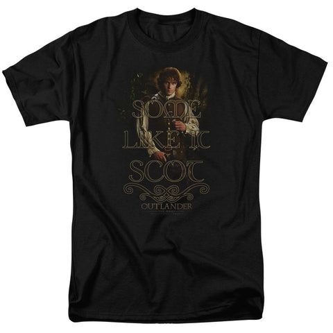 Outlander Some Like It Scot Adult Black T-Shirt