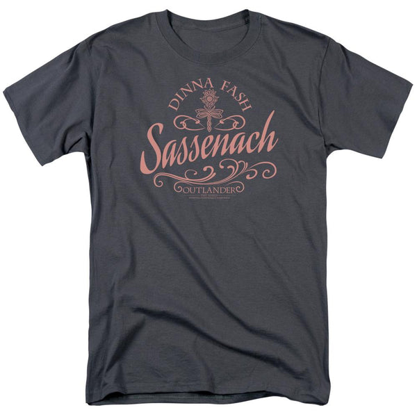 Outlander Sassenach Adult Charcoal T-Shirt