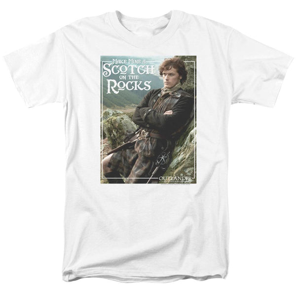 Outlander Scotch On The Rocks Adult White T-Shirt