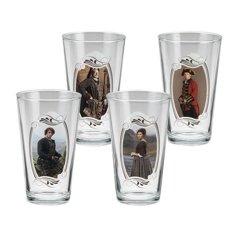 Outlander 4 Piece 16 Oz Glass Set