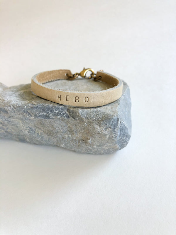 """Hero"" Leather Single Wrap Bracelet"