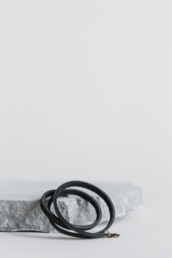 Black Leather Triple Wrap Bracelet