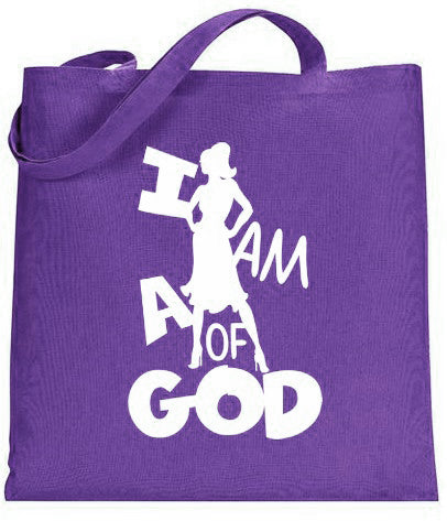 Image of I am a Woman of God Silhouette Tote 1a