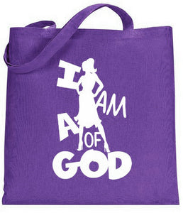I am a Woman of God Silhouette Tote 1a