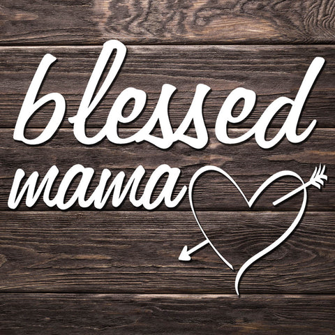 Blessed Mama Heart Decal