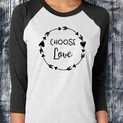 Choose Love Baseball Tee