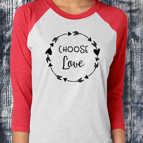 Image of Choose Love Baseball Tee