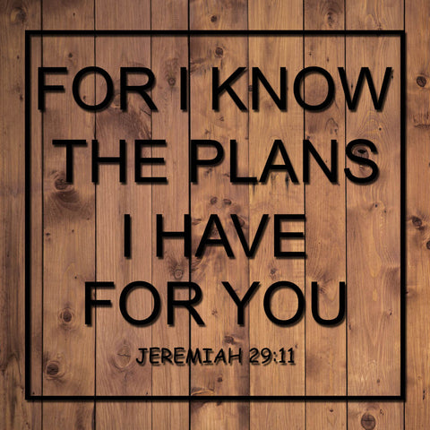Image of For I Know The Plans I Have For You Decal
