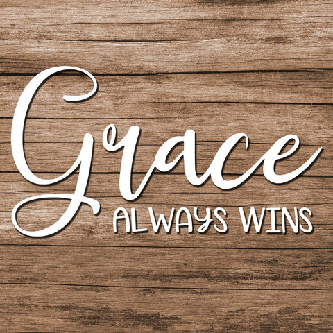 Image of Grace Always Wins Decal