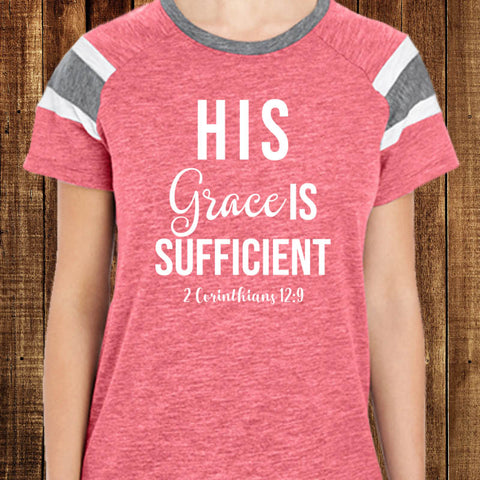 His Grace Is Sufficient Fan T-Shirt