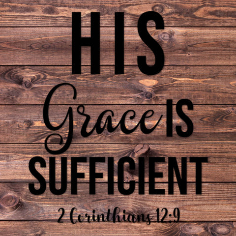 Image of His Grace Is Sufficient Decal