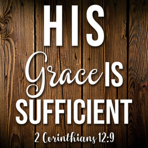 His Grace Is Sufficient Decal
