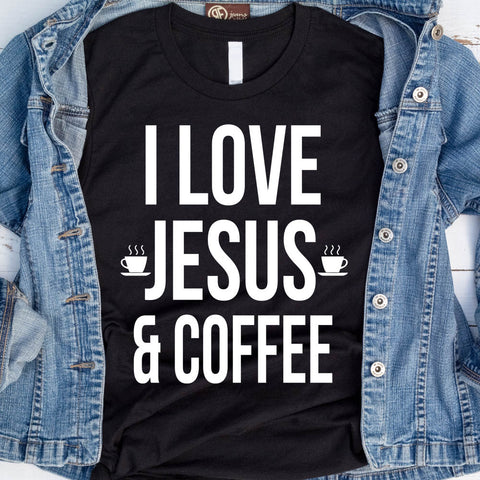 Image of I Love Jesus And Coffee T-Shirt