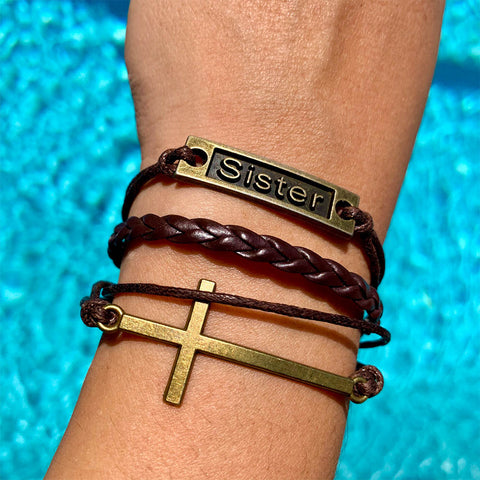 Image of Sister Cross Bracelet