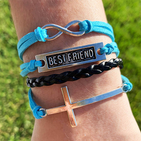 Image of Best Friends Forever Cross Bracelet