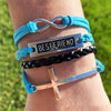 Best Friends Forever Cross Bracelet
