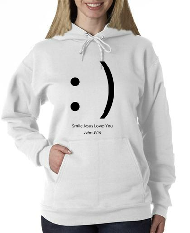 Smile Jesus Loves You Hoodie
