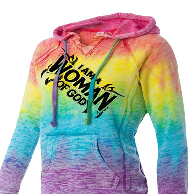I am a Woman of God® Christian Burnout Hoodie