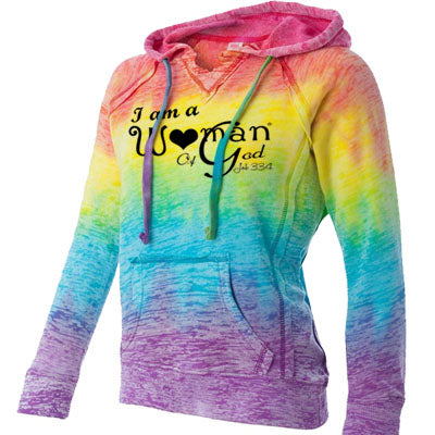 Christian Burnout Hoodie For Women