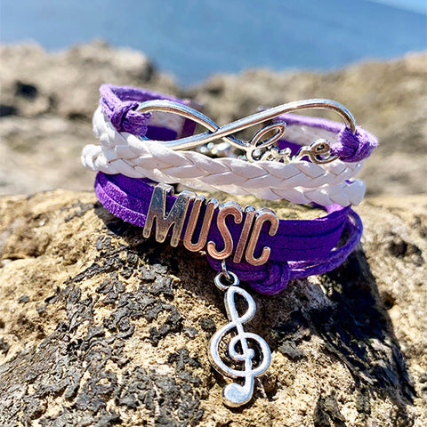 Image of Music Infinite Love Bracelet