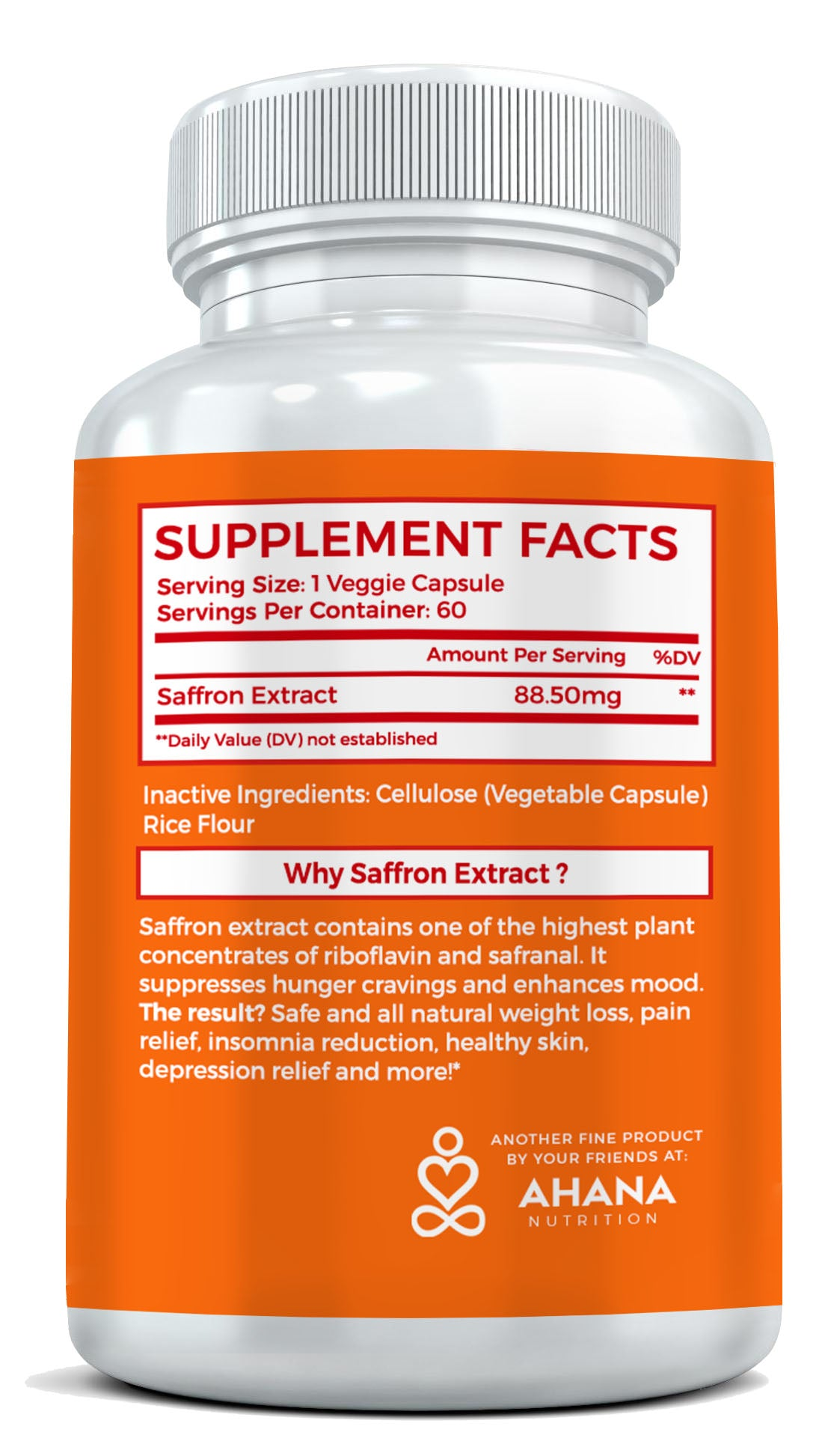 Saffron Extract For Weight Loss Ahana Nutrition