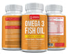 Omega-3 Fish Oil Capsules - Lemon Flavor