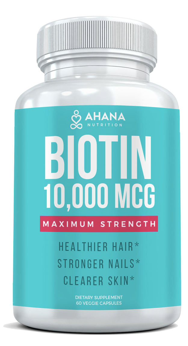 Biotin 10,000 MCG - Hair Growth Vitamins, 60 caps