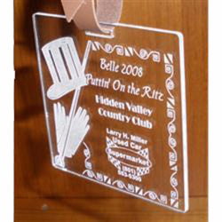 Clear Acrylic Bag Tag