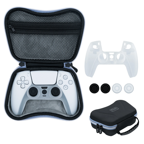 IPLAY 6 In 1 EVA Storage Bag With Silicon Case For PS5 Controller (HBP-283)
