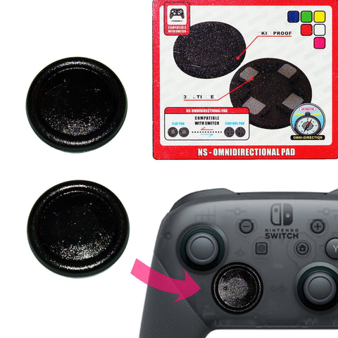 Project Design 2 in 1 Flat Button for Nintendo Switch Pro Controller Black