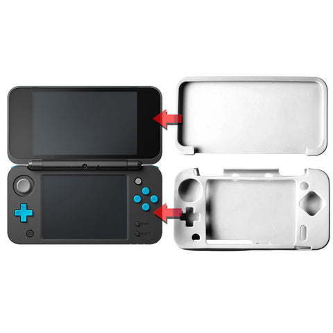White Soft Silicon Protective Case Skin for the new Nintendo 2DS XL
