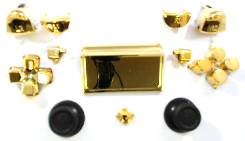 Gold Chrome Button Set for the PS4 Pro Dualshock Controller