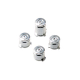 Metal Buttons Set for Xbox One Controller Bullet Style Silver