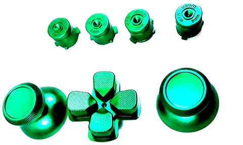 Green Metal Buttons for PS4 Dual Shock 4 Controller