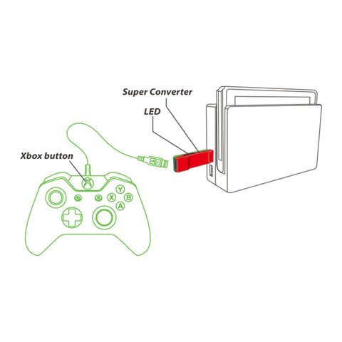 Brook Super Converter Adapter For Xbox 360/One Controller to Switch