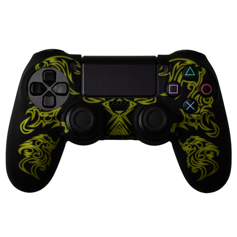 Protective Sleeve For PS4 Controllers - Dragon Black Yellow