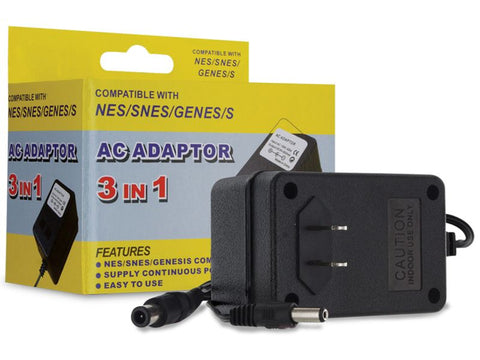 3 In 1 Universal AC Adapter for the Super NES/NES/Genesis