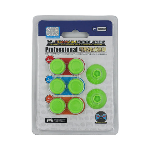 8 in 1 Removable Thumbsticks for PS4 - Green
