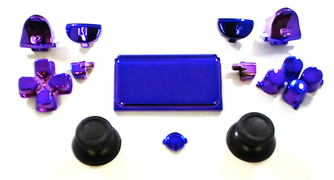 Violet Chrome Button Set for the PS4 Pro Dualshock Controller