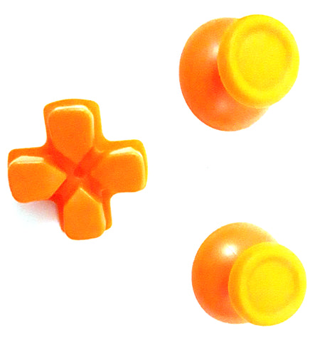 PS4 Dual Shock 4 Orange Thumbstick and D-pad Set